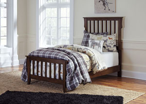 Strenton Brown Twin Panel Bed