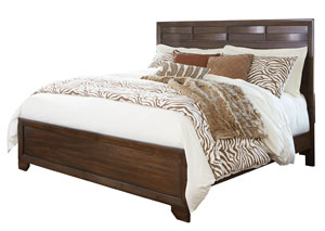 Mydarosa Brown California King Panel Bed