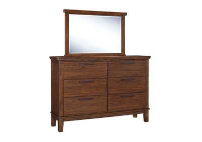 Ralene Medium Brown Bedroom Mirror