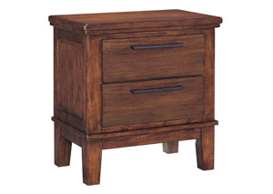 Ralene Medium Brown 2 Drawer Nightstand