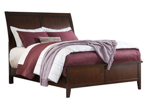 Evanburg Brown California King Sleigh Bed