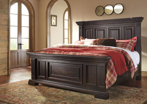 Willenburg Dark Brown California King Panel Bed