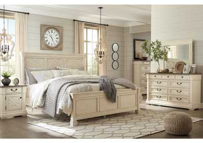 Bolanburg Antique White Queen Bed, Dresser, and Mirror