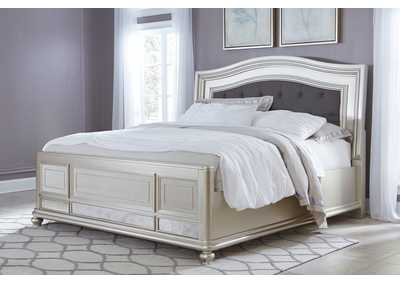 Coralayne Silver King Upholstered Bed