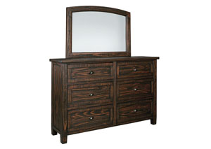 Trudell Golden Brown Bedroom Mirror