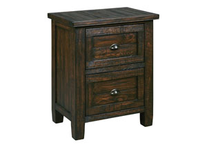Trudell Golden Brown Two Drawer Nightstand