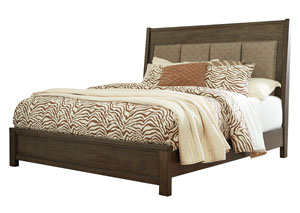 Camilone Dark Gray California King Upholstered Panel Bed