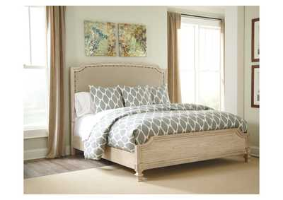 Demarlos California King Upholstered Panel Bed