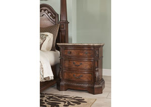 Ledelle Three-Drawer Nightstand,Millennium