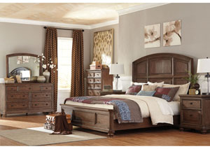 Maeleen King Platform Bed w/Dresser, Mirror & Drawer Chest