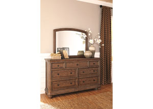 Maeleen Medium Brown Bedroom Mirror