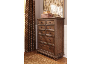 Maeleen Medium Brown Eight Drawer Chest