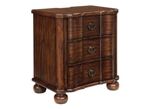 Hadelyn Brown Three Drawer Night Stand