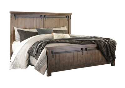 Lakeleigh Brown California King Panel Bed