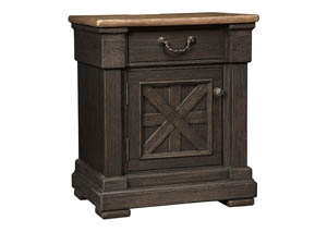 Tyler Creek Black/Gray Door Nightstand