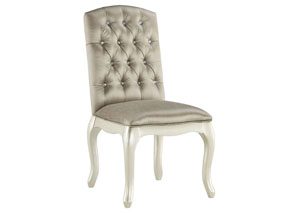 Cassimore Pearl Silver Upholstered Chair,Signature Design By Ashley
