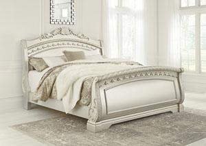 Cassimore Pearl Silver Queen Sleigh Bed,Signature Design by Ashley