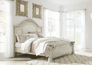 Cassimore Pearl Silver King Panel Bed