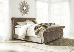 Cassimore Pearl Silver Queen Upholstered Bed,Signature Design by Ashley