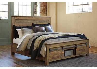 Sommerford Brown King Storage Bed