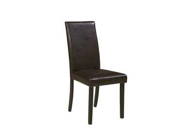Kimonte Dark Brown Upholstered Chair (Set of 2),Signature Design by Ashley