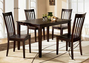 Hyland Rectangular Dining Table w/4 Chairs