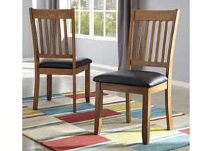 Joveen Light Brown Dining Upholstered Side Chair (Set of 2)