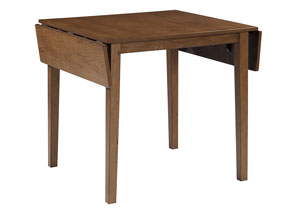 Joveen Light Brown Dining Room Drop Leaf Table
