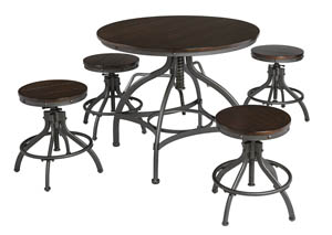 Odium Brown Dining Room Counter Table Set