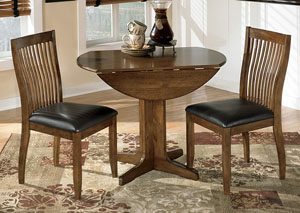 Stuman Round Drop Leaf Table w/ 2 Chairs