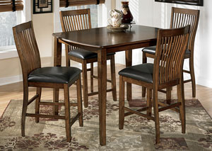 Stuman Counter Height Dining Table w/ 4 Chairs,Signature Design by Ashley