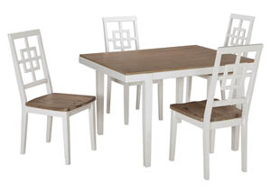 Brovada Two-tone Rectangular Dining Room Table Set