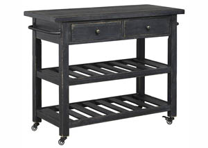 Marlijo Black Kitchen Cart