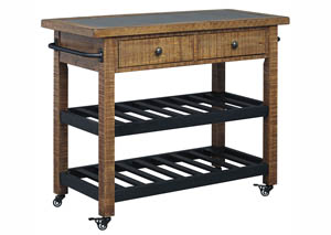 Marlijo Warm Brown Kitchen Cart