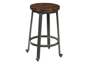 Challiman Rustic Brown Stool (Set of 2)