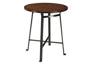 Challiman Rustic Brown Round Counter Table