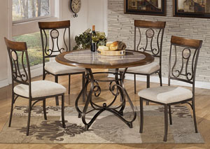 Hopstand Round Table & 4 Side Chairs,Signature Design by Ashley