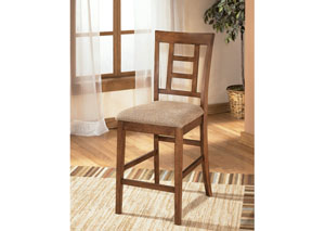 Cross Island Upholstered Barstool (Set of 2),Ashley