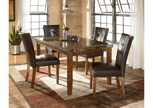 Lacey Rectangular Dining Table w/4 Side Chairs