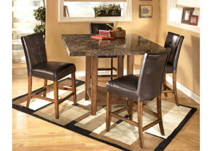 Lacey Square Counter Table w/4 Stools