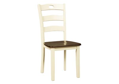 Woodanville White/Brown Dining Room Side Chair (Set of 2),Signature Design By Ashley