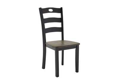 Froshburg Grayish Brown/Black Dining Room Side Chair (Set of 2),Signature Design By Ashley