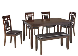 Bennox Brown Dining Room Table Set