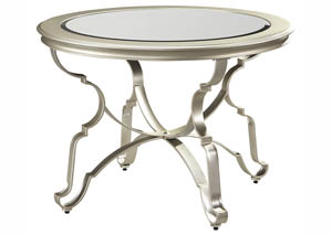 Shollyn Silver Round Dining Room Table,Signature Design by Ashley