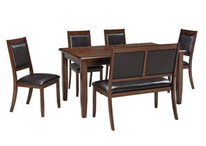 Meredy Brown Dining Room Table Set