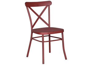 Minnona Red Dining Side Chair (Set of 2)