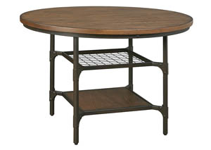 Rolena Brown Round Dining Room Table