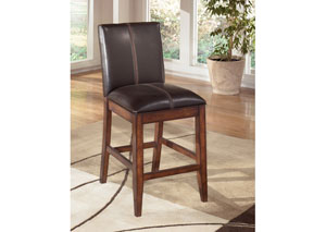 Larchmont Upholstered Barstool (Set of 2),Signature Design by Ashley