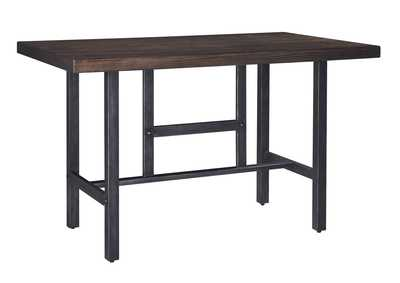 Kavara Medium Brown Rectangular Dining Room Counter Table