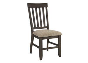 Dresbar Grayish Brown Dining Upholstered Side Chair (Set of 2)